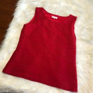 Calvin Klein Red Blouse Sleeveless Large